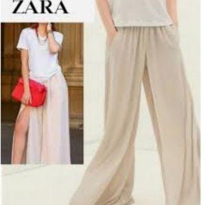 Zara wide Flowy Leg Pants